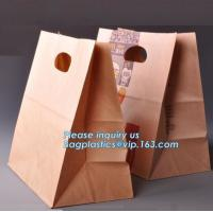 China 60gsm Oil-Proof Food Kraft Paper Packaging Bread Bag,food brown kraft paper bag sandwich bag bread bag, BAGPLASTICS, PAC on sale