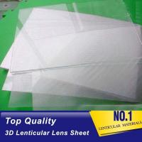 China Plastic  Lens PS/PET/PP Material 75/100/161 Lpi 3d lenticular lens sheet lenticular printing films with 3d flip effect wholesale