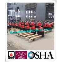 China Manual jack hand hydraulic pallet truck trolley , Drum storage cabinet used jacking trolley wholesale