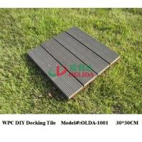 China Square Snap Together Patio Tiles , Composite Patio / Balcony / Pool Eco Decking Tiles wholesale