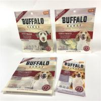 China Strong Sealing Smell Proof Pet Food Bag UV Logo Printed With Easy Opening Tear Notches wholesale