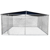 China Outdoor 5 X 15 X 6 Wire Dog Kennel Galvanized Material wholesale