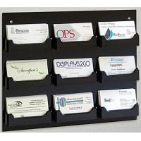 China 9-Pocket Acrylic Business Card Holder for Wall, Open Pockets Fit 60 Cards wholesale
