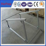 China aluminium extruded profile aluminum alloy frame solar system, solar aluminium profiles wholesale