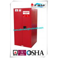China 60 Gallon Industrial Paint Storage Cabinets Steel For Flammables And Combustibles wholesale