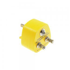 China Yellow ABS Antistatic 1M Resistor ESD Boding UK Plugs wholesale