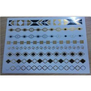 China OEM metallic body tattoo jewelry foil body tattoo Professional wholesale