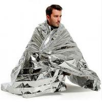Buy cheap Portable Waterproof Emergency Space Rescue Thermal Foil Mylar Blankets Silver 1.4m x 2.1m survival tools from wholesalers