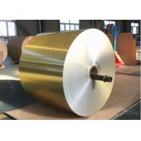China Customized Heat Exchanger Material , Golden Color Coated Aluminium Foil wholesale