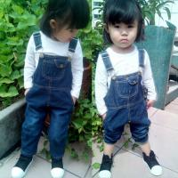 China Customized Color Denim Kids Overall Jeans For Baby Girls / Baby Boys / Toddlers wholesale