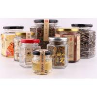 China Hexagonal Glass Honey Jars 45ml-730ml Food Container Lead Free Sealed Bottle wholesale