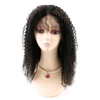 China Kinky Curly Front Lace Wigs , Lace Front Full Wigs Human Hair 8A Grade wholesale