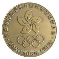 China Mascot Theme Custom Metal Coins For Sports Event Elegant / Formal Style wholesale