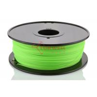 China Green 3D Printer Makerbot Filament 1.75mm 3mm ABS For 3D Printing , 1kg / Spool wholesale
