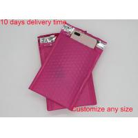 China Red Color Poly Bubble Mailers  4 * 8 Inch With High Frequency Heat Seal wholesale