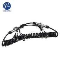China Truck Rear View Camera System Truck Trailer Coiled Cable , Waterproof 7 Pin Cable wholesale