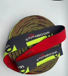 China new arrival cycling elastic band custom printed jacquard elastic webbing wholesale