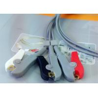 Quality Compatible Din Style Safety 3 Lead Ecg Cable , Grabber AHA Ecg Lead Wires for sale