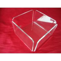 China Clear Plexiglass / Acrylic Tissue Box For 10cm x 8cm Paper Sheets wholesale