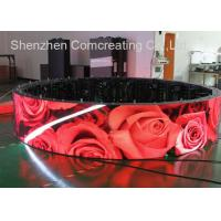 China Hoisting Cabinet SMD Digital Custom LED Display P4 Indoor Full Color Curve Advertising Screen wholesale