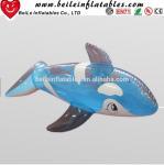 China Hot sale blue shark shaped funny Inflatable cartoon wholesale