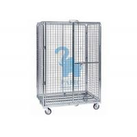 Multi - Level Foldable Wire Mesh Storage Cages Wire Mesh Cart With Wheels