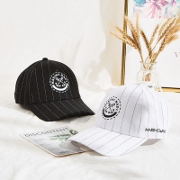 China 6 panel sports embroidery logo white black custom 100% cotton baseball cap wholesale