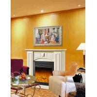 China Imitation Antique Marble Fireplaces , Wall Mounted Decorative Flame LED Electric Fireplace wholesale