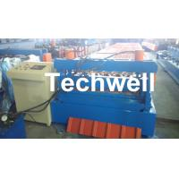 China 0.3 - 0.8 mm Thick Roof Sheet Cold Roll Forming Machine with PLC Computer Control wholesale