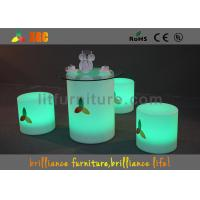 Quality Indoor| / Outdoor LED Table And Chairs Modern Bar Furniture CE Certification for sale