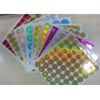 China Anti - Dirty Security Hologram Stickers Multi Color In Small Round Shape wholesale