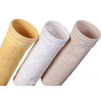 China Cement Silo Polyester Felt Filter Bag 2000 - 9000mm Length 190 Degree Working Temperature wholesale