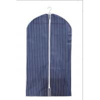 China Fashion Non Woven Fabric 100cm Suit Storage Covers Blue And White Stripe wholesale