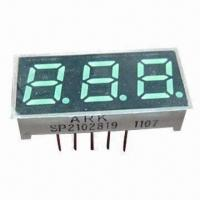 China 0.28-inch Three Digits 7 Segment Numeric LED Display, Green Surface for Controller Display wholesale