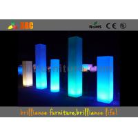 China 16 Colors Wedding Event LED Pillars Plastic With Remote Control wholesale