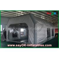 China Prefessional Gray Waterproof PVC and Oxford Cloth Inflatable Paint Booth for Car Painting wholesale