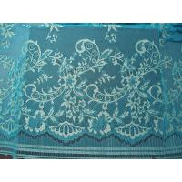 China Stretchable Flower Nylon Metallic Lace Fabric Green Knitted For Clothing wholesale