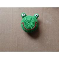 China Knitted Kickball Crochet Toy Squeaky Froggy Dog Toy on sale