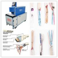 China CO2 Laser Copper Wire Stripping Machine With Double Tube Double Light Road Design wholesale