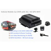 China 1TB HDD Support 4 Channels 720P AHD Cameras Car DVR Recorder 3G / 4G GPS WIFI wholesale