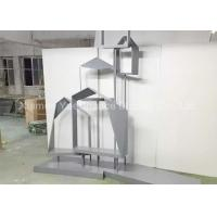 China Custom House Shape Metal Decorations Crafts Bag Display Rack For Home Decoration wholesale