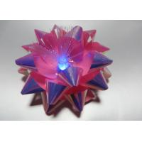Quality Transparent LED Glowing gift ribbon flower bows with LED light for celebration party for sale