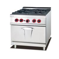 China Gas Oven Western Kitchen Equipment 800*900*940mm 4 Burner Gas Stove on sale