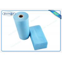 Quality 100% Flesh PP Nonwoven Bed Sheet , Medical Bed Sheets Blue Color Packing In Roll for sale