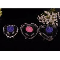 High White Transparent glass tealight candle holders for wedding centerpieces , Heart Shape