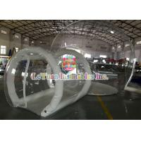 China 0.9mm PVC Inflatable Airtight Tent With Pipe , Transparent Backyard Camping Tent wholesale