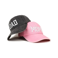 China Hot popular new era denim fabric Dad's cap for husband and wife wholesale