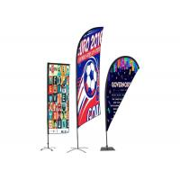 China Personalised Outdoor Promotional Flags And Banners Advertising Usage BSCI Certification on sale