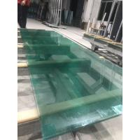 China SGP laminated glass with green water ghost metal-coated polyester mesh fabric on sale