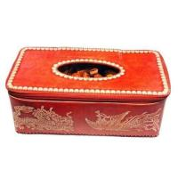 China Oxhide tissue box,tissue holder,handicrafts,folk crafts,folk arts wholesale